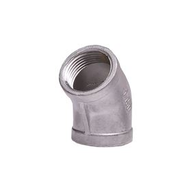 "304 Stainless Steel 45° Elbow 1"" elbow, stainless steel fitting, stainless steel elbow, stainless steel 304, 304, threaded, threaded pipe fitting, ninety degree elbow, SSLL9010"