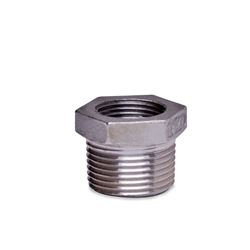 "304 Stainless Steel Bushing 1"" x 3/4"" bushing, stainless steel fitting, stainless steel bushing, stainless steel 304, 304, threaded, threaded pipe fitting, hexagon bushing, SSLB1007"