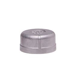 "304 Stainless Steel Cap 2"" cap, stainless steel fitting, stainless steel cap, stainless steel 304, 304, threaded, threaded pipe fitting, SSLCP20"