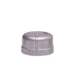 "304 Stainless Steel Cap 1.25"" cap, stainless steel fitting, stainless steel cap, stainless steel 304, 304, threaded, threaded pipe fitting, SSLCP12"