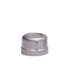 "304 Stainless Steel Cap 3/4"" cap, stainless steel fitting, stainless steel cap, stainless steel 304, 304, threaded, threaded pipe fitting, SSLCP07"
