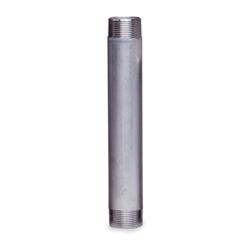 "304 Stainless Steel Schedule 40 Nipple 1"" x 12"" nipple, stainless steel fitting, stainless steel nipple, stainless steel 304, 304, threaded, threaded pipe fitting, schedule 40 nipples, SSLN10120"