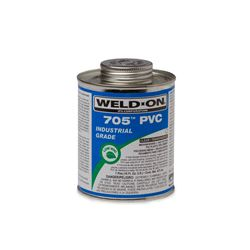 Weld-On 10100 PVC 705 Clear Industrial Grade Cement Quarter Pint pvc compound, PVC glue, cement, PVC Cement, primer, glue, pvc cleaner, hot glue, pvc primer, pipe primer, P-70, p70, Weld On, weldon, 10101