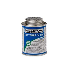 "Weld-On 11984 PVC 737 TURFN AG ""Blue"" Pipe Cement Half Pint pvc compound, PVC glue, cement, PVC Cement, primer, glue, pvc cleaner, hot glue, pvc primer, pipe primer, P-70, p70, Weld On, weldon, turfn, blue, 11984"