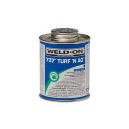"Weld-On 10990 PVC 737 TURFN AG ""Blue"" Pipe Cement Pint pvc compound, PVC glue, cement, PVC Cement, primer, glue, pvc cleaner, hot glue, pvc primer, pipe primer, P-70, p70, Weld On, weldon, turfn, 10990"