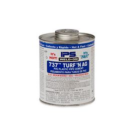 "Weld-On 10989 PVC 737 TURFN AG ""Blue"" Pipe Cement Quart pvc compound, PVC glue, cement, PVC Cement, primer, glue, pvc cleaner, hot glue, pvc primer, pipe primer, P-70, p70, Weld On, weldon, 737, turfn, 10989"