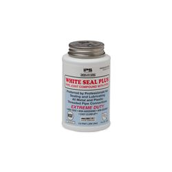 Weld-On 87730 White Seal Plus Multi-purpose Pipe Joint Compound with PTFE Half Pint tape, lock tight, Teflon, Thread seal, pipe dope, Sealant, pvc compound, PVC glue, cement, PVC Cement, primer, glue, pvc cleaner, hot glue, pvc primer, pipe primer, P-70, p70, Weld On, weldon, 87730