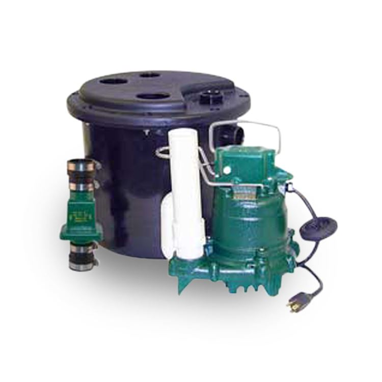Zoeller 120 Drainage Pump System With Polypropylene Basin Lid
