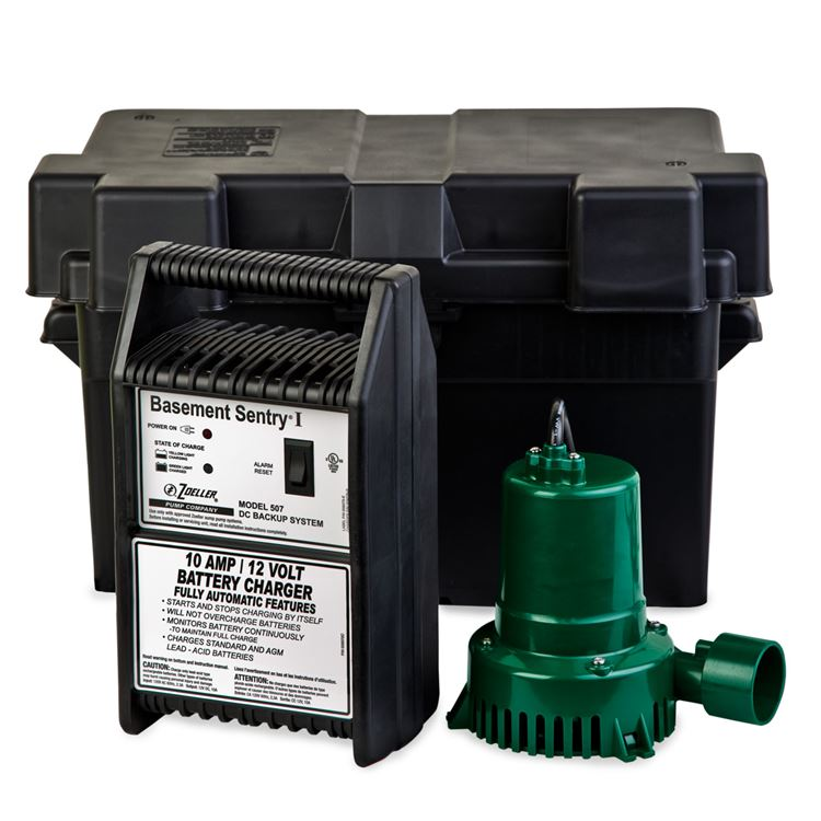 Zoeller Backup Sump Pumps Zoeller Basement Sentry 507